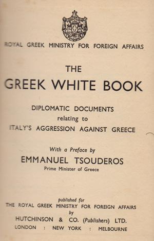 The_greek_white_book_Tsouderos_Emmanuel