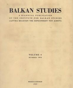 balkan studies