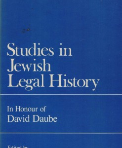 studies in jeweal legal history